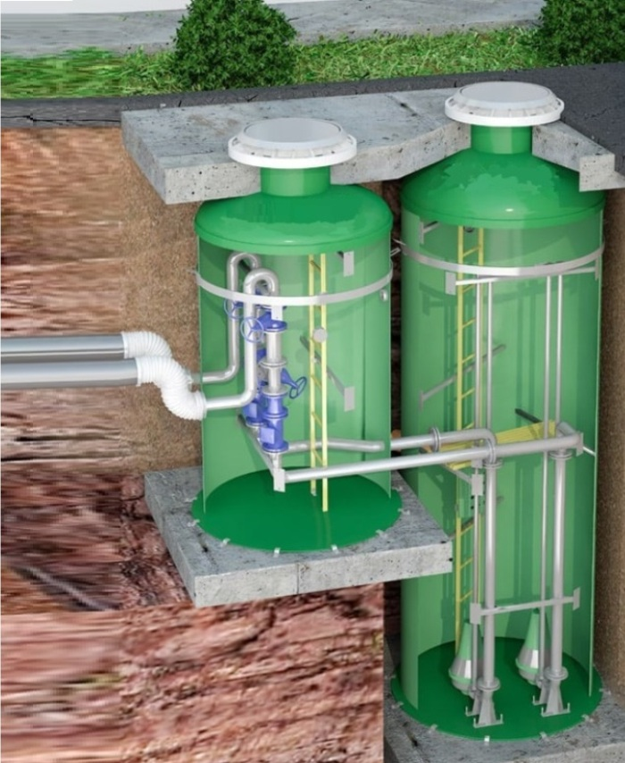 модульные канализационные насосные станции общий вид